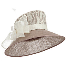 Buy John Lewis Jackie Lace Occasion Hat, Cream Online at johnlewis.com