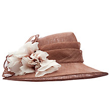 Buy John Lewis Paige Flower Occasion Hat, Pink Mocha Online at johnlewis.com