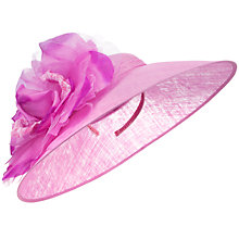 Buy John Lewis Mia Large Disc Hat Fascinator, Magenta Online at johnlewis.com