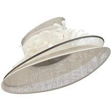 Buy John Lewis Rosa Double Brim Hat, Silver Online at johnlewis.com