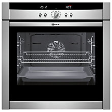 Buy Neff B45E52N3GB Slide and Hide Single Electric Oven, Stainless Steel Online at johnlewis.com