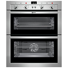 Buy Neff U17M42N3GB Double Built-Under Electric Oven, Stainless Steel Online at johnlewis.com
