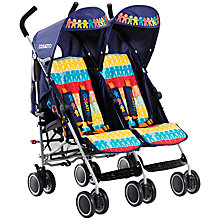 Buy Cosatto Ditto Twin Pushchair, Rainbow Online at johnlewis.com