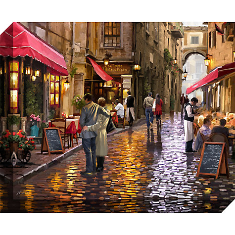 Buy Richard Macneil - Cafe Street Print on Canvas, 40 x 50cm Online at johnlewis.com