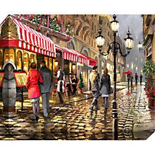 Buy Richard Macneil - Evening Cafe Print on Canvas, 40 x 50cm Online at johnlewis.com