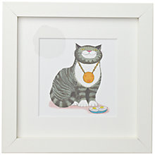 Buy Judith Kerr - Mog with Medal Framed Print, 23 x 23cm Online at johnlewis.com