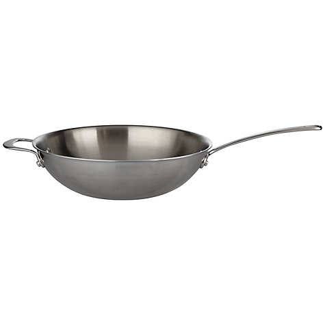 Buy John Lewis 3-Ply Wok With Helper Handle Online at johnlewis.com