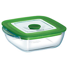 Buy Pyrex Square Dish with Lid, 1L Online at johnlewis.com