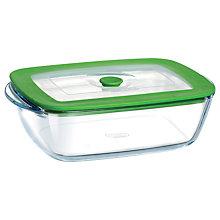 Buy Pyrex Rectangular Dish with Lid, 2.6L Online at johnlewis.com