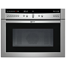 Buy Neff C57W40N3GB Built-In Microwave, Stainless Steel Online at johnlewis.com