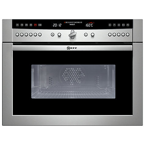Buy Neff C67P70N3GB Built-In Combination Microwave, Stainless Steel Online at johnlewis.com