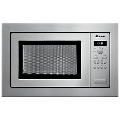 Buy Neff H56W20N3GB Built-In Microwave, Stainless Steel Online at johnlewis.com