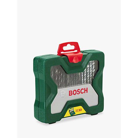 buy bosch 33 piece drill and screwdriver bit set john lewis. Black Bedroom Furniture Sets. Home Design Ideas