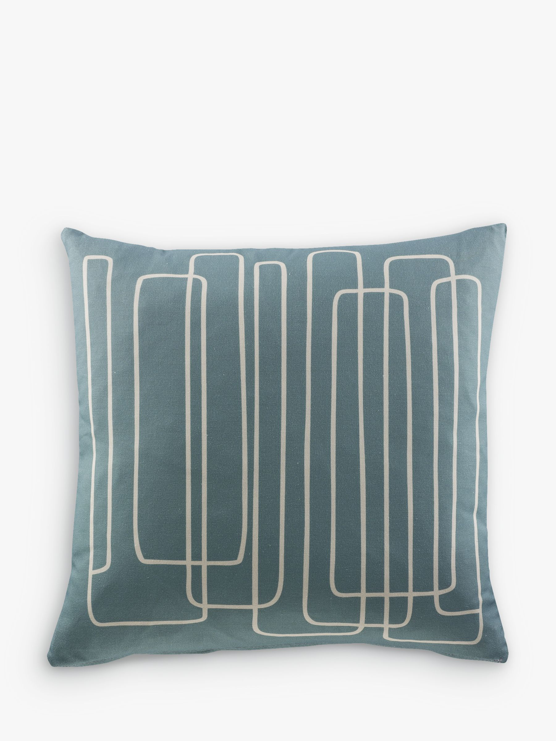 G Plan Vintage Scatter Cushion, Loopy Lines, Loopy Lines Blue