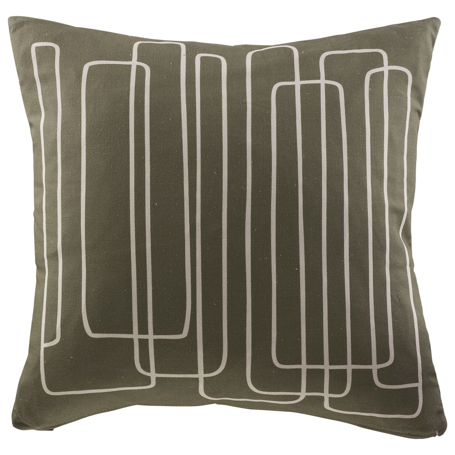 G Plan Vintage Scatter Cushion, Loopy Lines, Loopy Lines Olive
