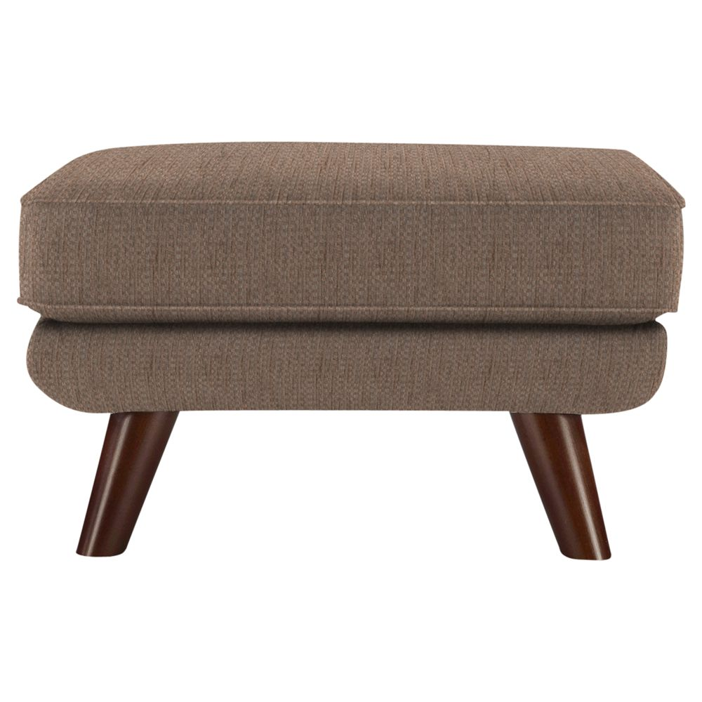 G Plan Vintage The Fifty Three Footstool, Weave Cocoa