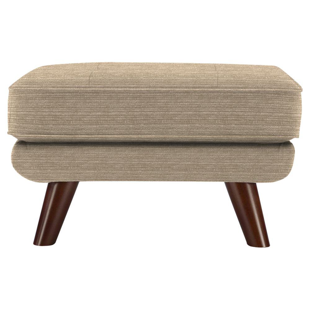 G Plan Vintage The Fifty Three Footstool, Streak Mushroom