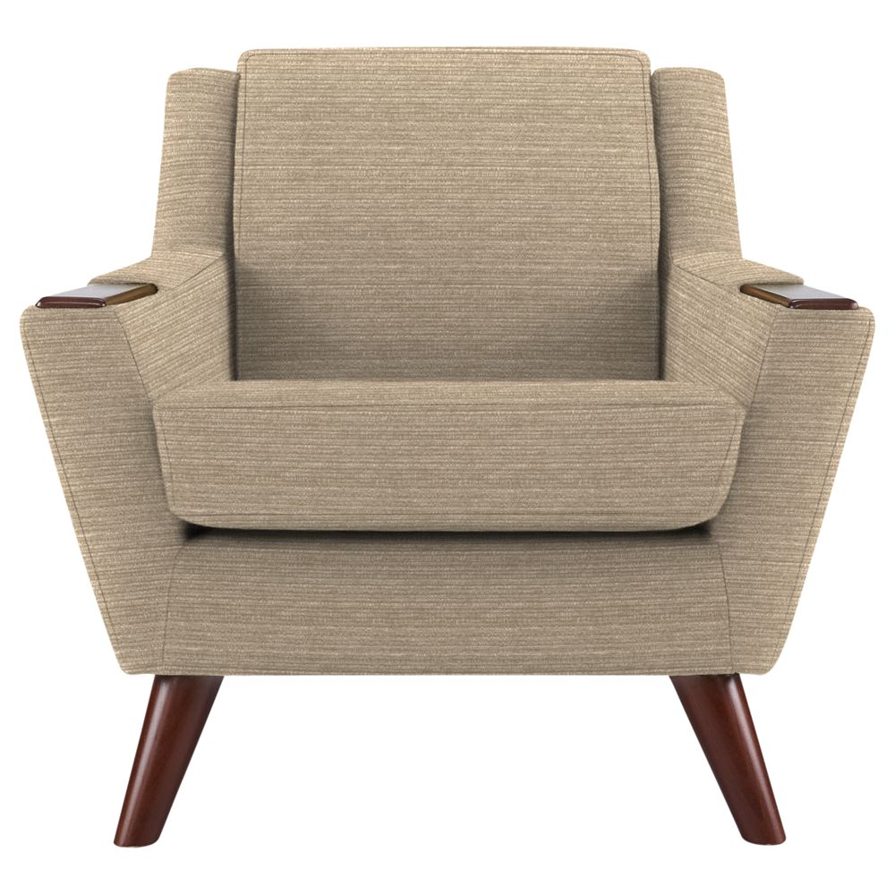 G Plan Vintage The Fifty Five Armchair, Streak Mushroom