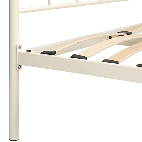 Buy John Lewis Daisy Bedstead, Cream, Small Double Online at johnlewis.com