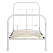 Buy John Lewis Fran Botanist Bedstead, Matt Cream, Single Online at johnlewis.com