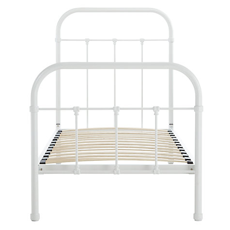 Buy John Lewis Fran Botanist Bedstead, Matt White, Single Online at johnlewis.com