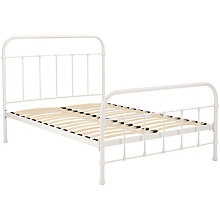 Buy John Lewis Fran Botanist Bedstead, Matt White, Kingsize Online at johnlewis.com
