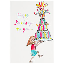 Buy Woodmansterne Quentin Blake Jelly on a Plate Birthday Card Online at johnlewis.com