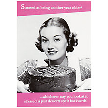 Buy Pigment Desserts Spelt Backwards Birthday Card Online at johnlewis.com