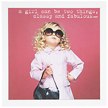 Buy Icon Classy and Fab Birthday Card Online at johnlewis.com