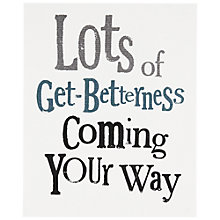 Buy Really Good Get Betterness Greeting Card Online at johnlewis.com