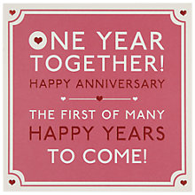 Buy Hotchpotch One Year Together Anniversary Greeting Card Online at johnlewis.com