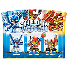 Buy Skylanders Interactive Figures, Pack of 3, Whirlwind/Double Trouble/Drill Sergeant Online at johnlewis.com