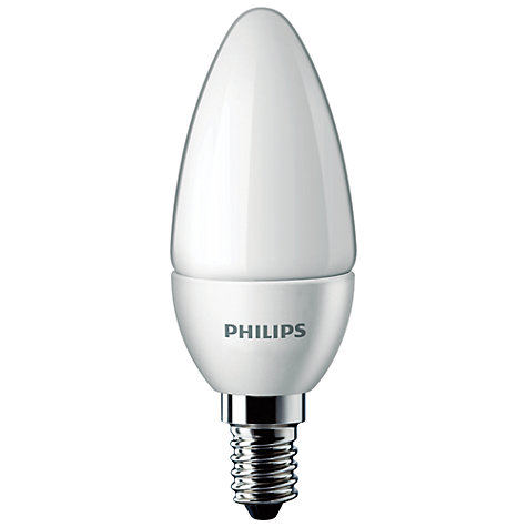Buy Philips 4W SES LED Energy Saving Candle Bulb, Frosted Online at johnlewis.com