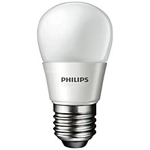 Buy Philips 4W ES LED Energy Saving Golfball Bulb, Frosted Online at johnlewis.com