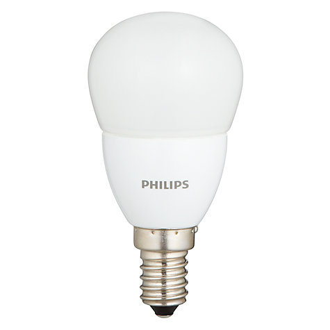 Buy Philips 4W SES LED Energy Saving Golfball Bulb, Frosted Online at johnlewis.com