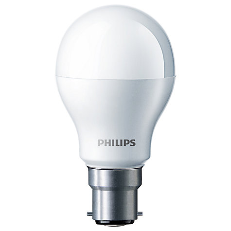 Buy Philips 8W BC LED Energy Saving Classic Bulb, Frosted Online at johnlewis.com