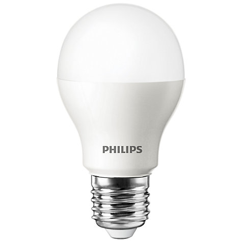 Buy Philips 8W ES LED Energy Saving Classic Bulb, Opal Online at johnlewis.com