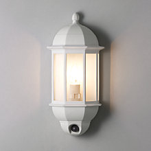 Buy John Lewis Harris PIR Sensor Half Lantern, White Online at johnlewis.com