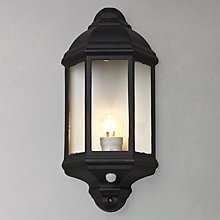 Buy John Lewis Harris Outdoor PIR Sensor Half Lantern Online at johnlewis.com