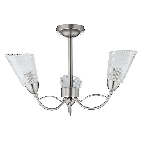 Buy John Lewis Monique Semi-flush Light, 3 Light Online at johnlewis.com