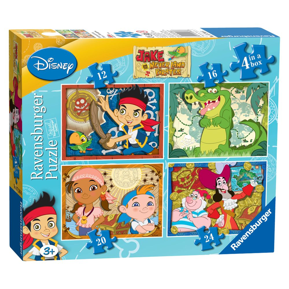 Jake And The Never Land Pirates, 4-in-1 Puzzle, 72 Pieces
