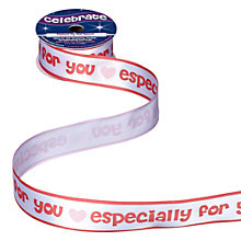 Buy Celebrate Especially for You Ribbon, Red/Baby Pink Online at johnlewis.com