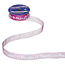 Buy Celebrate Thanks Ribbon, Purple Online at johnlewis.com