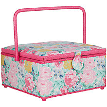 Buy John Lewis Idyllic Sewing Basket, Square Online at johnlewis.com