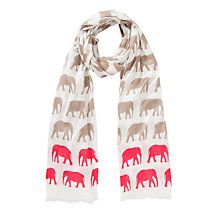 Buy John Lewis Woven Viscose Elephant Print Scarf Online at johnlewis.com