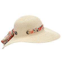 Buy John Lewis Floral Tie Soft Hat, Neutrals Online at johnlewis.com