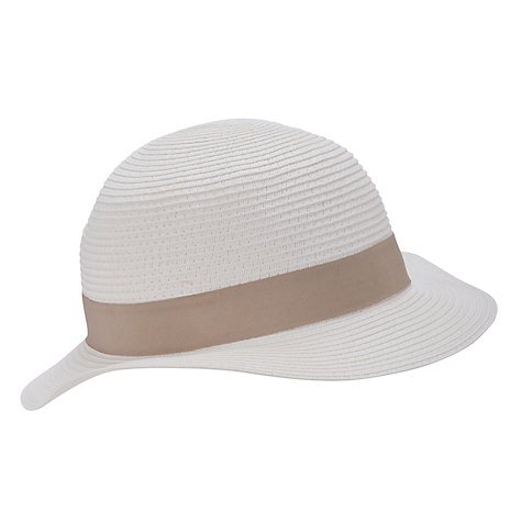Buy John Lewis Margot Ribbon Band Hat, White Online at johnlewis.com