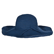Buy John Lewis Large Braid Casual Hat, Navy Online at johnlewis.com