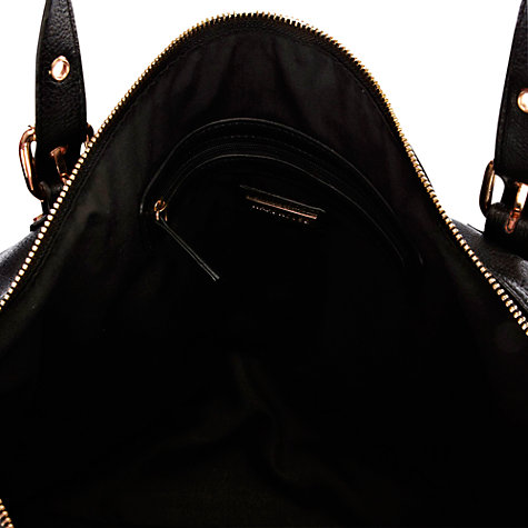 Buy Warehouse Buckle Detail Tote Handbag, Black Online at johnlewis.com