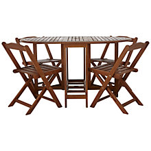 Buy John Lewis Naples Outdoor 4 Seater Folding Dining Table Set Online at johnlewis.com
